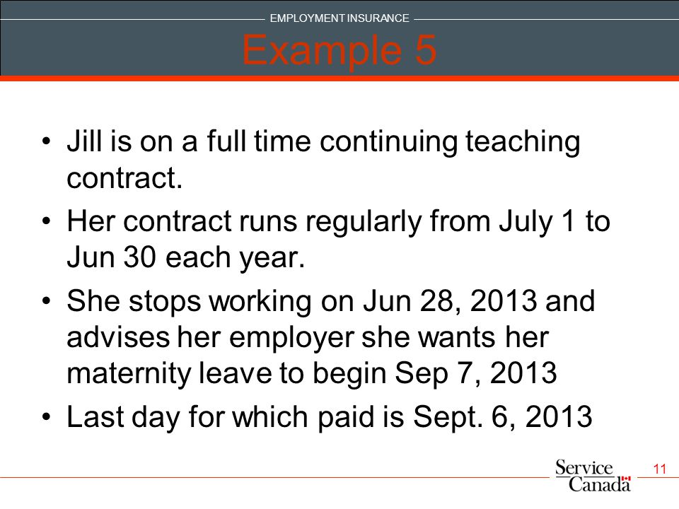 Example 5 Jill is on a full time continuing teaching contract.