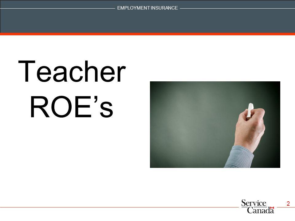 Teacher ROE's