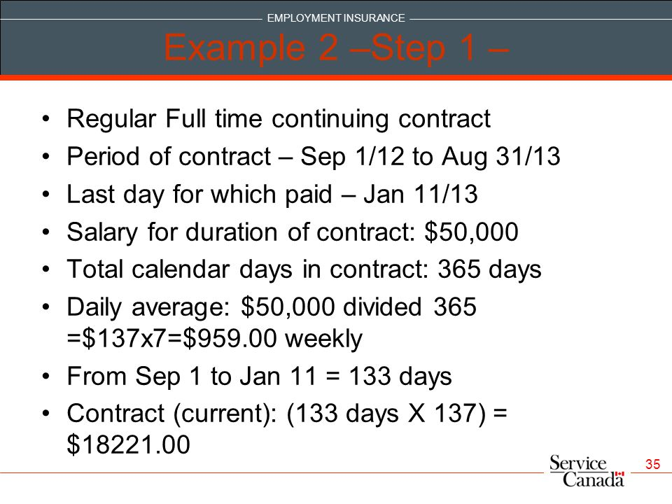 Example 2 –Step 1 – Regular Full time continuing contract
