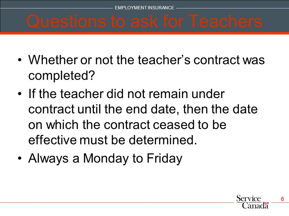 Questions to ask for Teachers