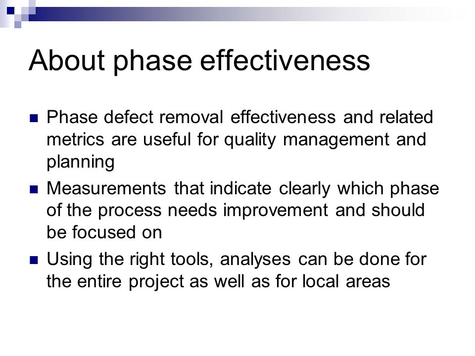About phase effectiveness