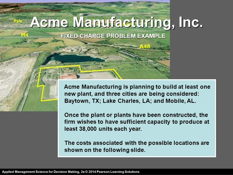 Acme Manufacturing, Inc.