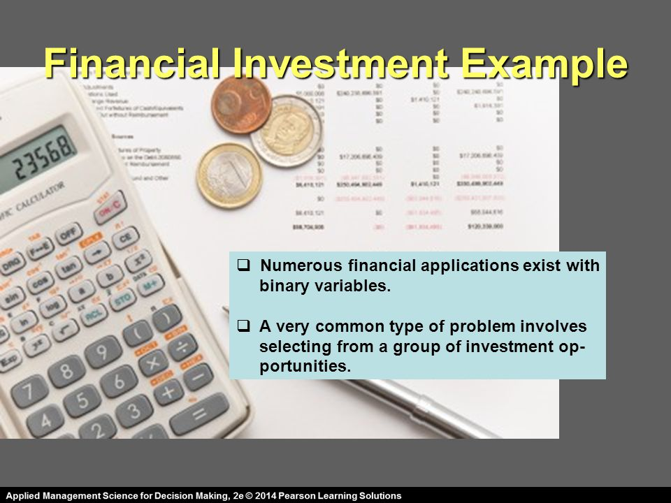 Financial Investment Example