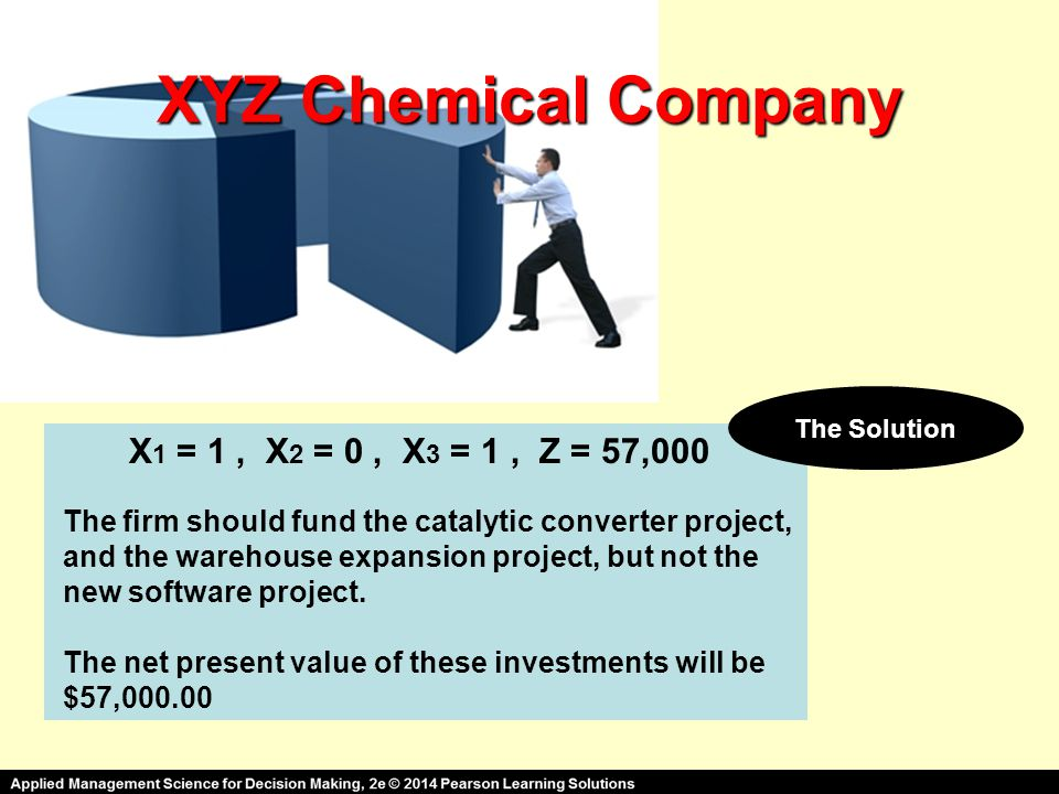 XYZ Chemical Company and the warehouse expansion project, but not the