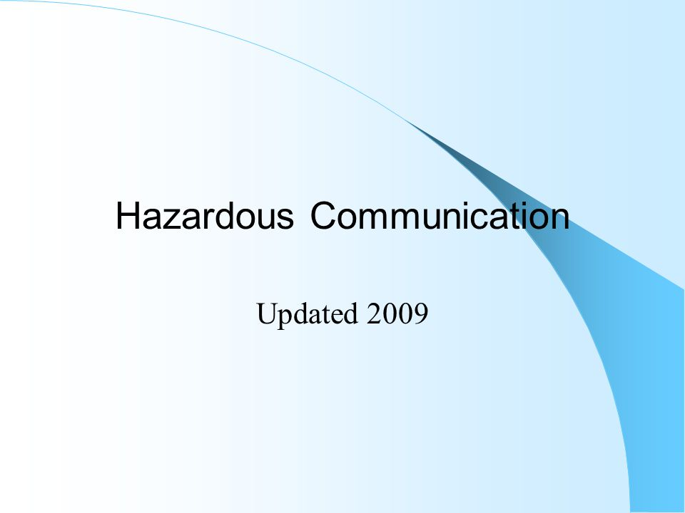 Hazardous Communication