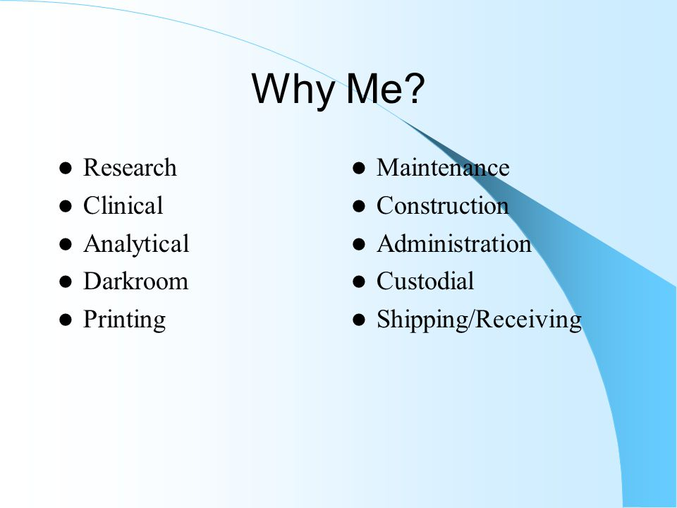 Why Me Research Clinical Analytical Darkroom Printing Maintenance