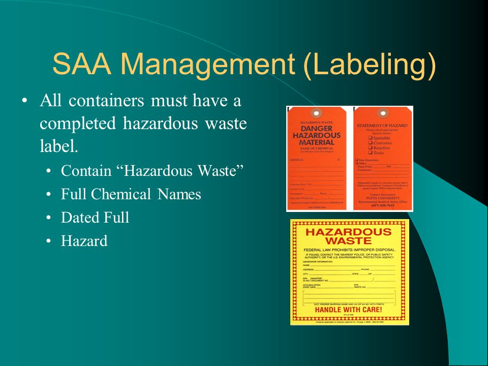 SAA Management (Labeling)