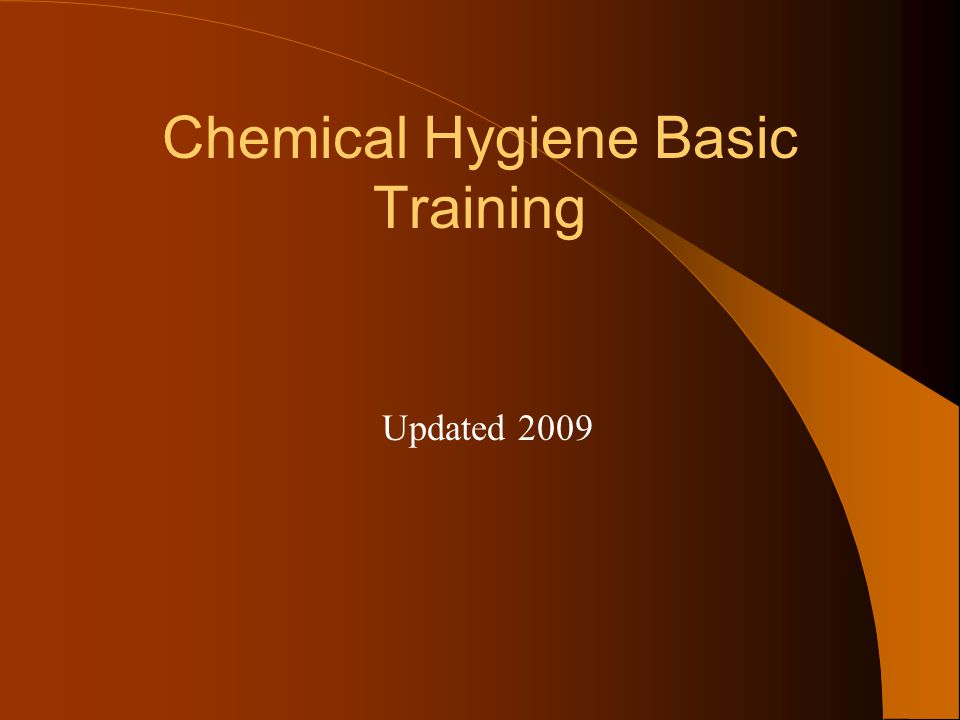 Chemical Hygiene Basic Training