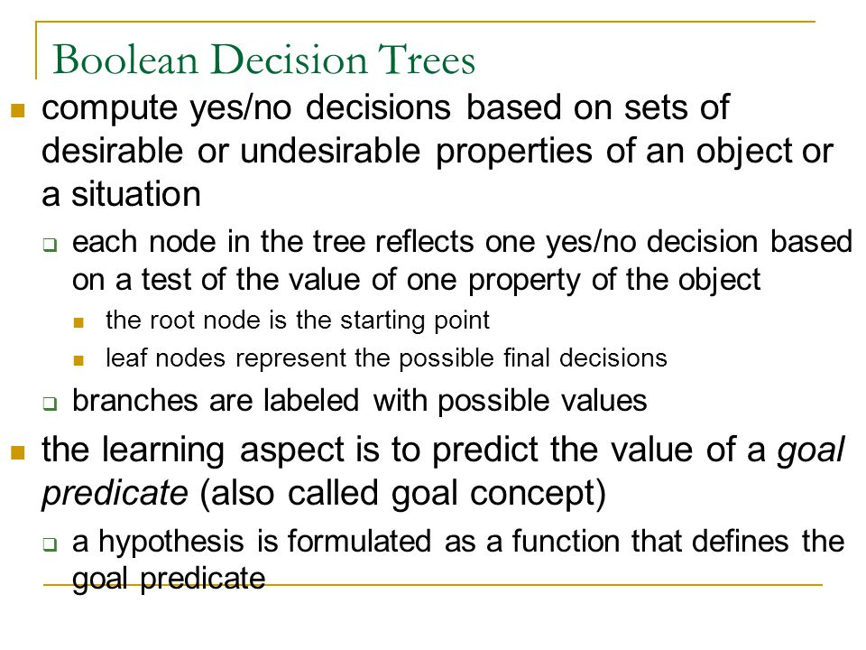 Boolean Decision Trees