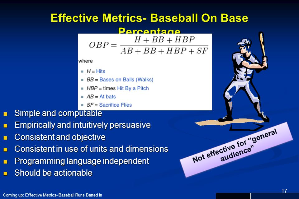 Effective Metrics- Baseball On Base Percentage