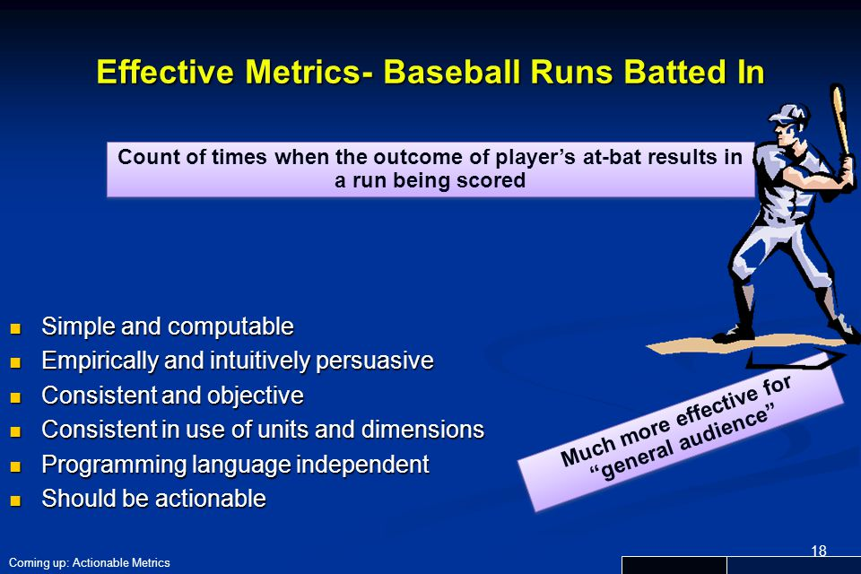 Effective Metrics- Baseball Runs Batted In