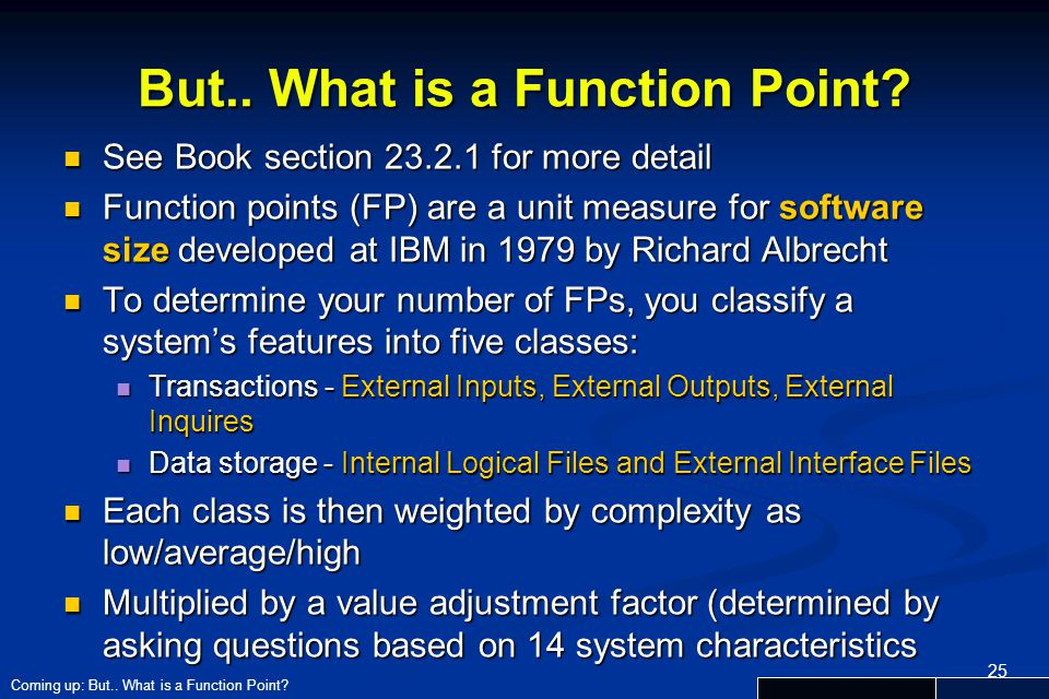 But.. What is a Function Point