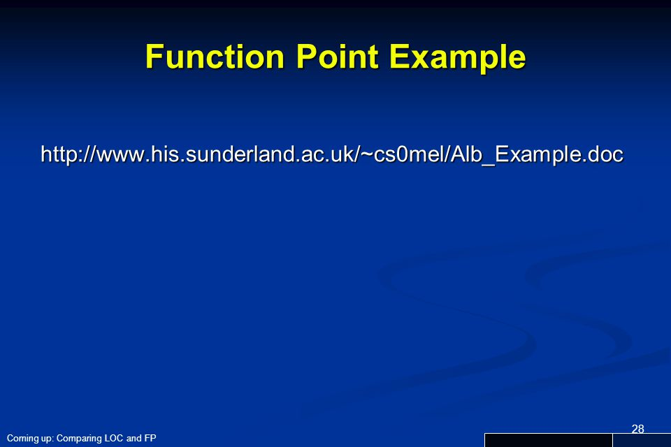 Function Point Example