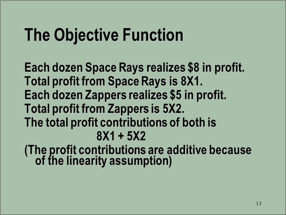 The Objective Function