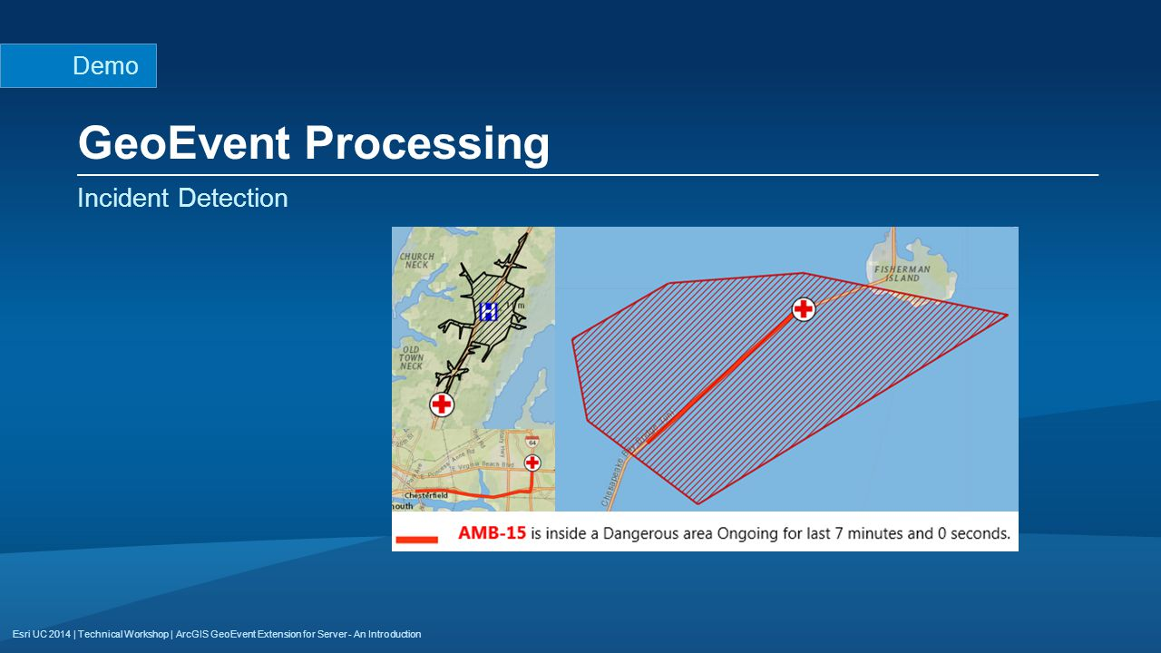GeoEvent Processing Incident Detection Demo