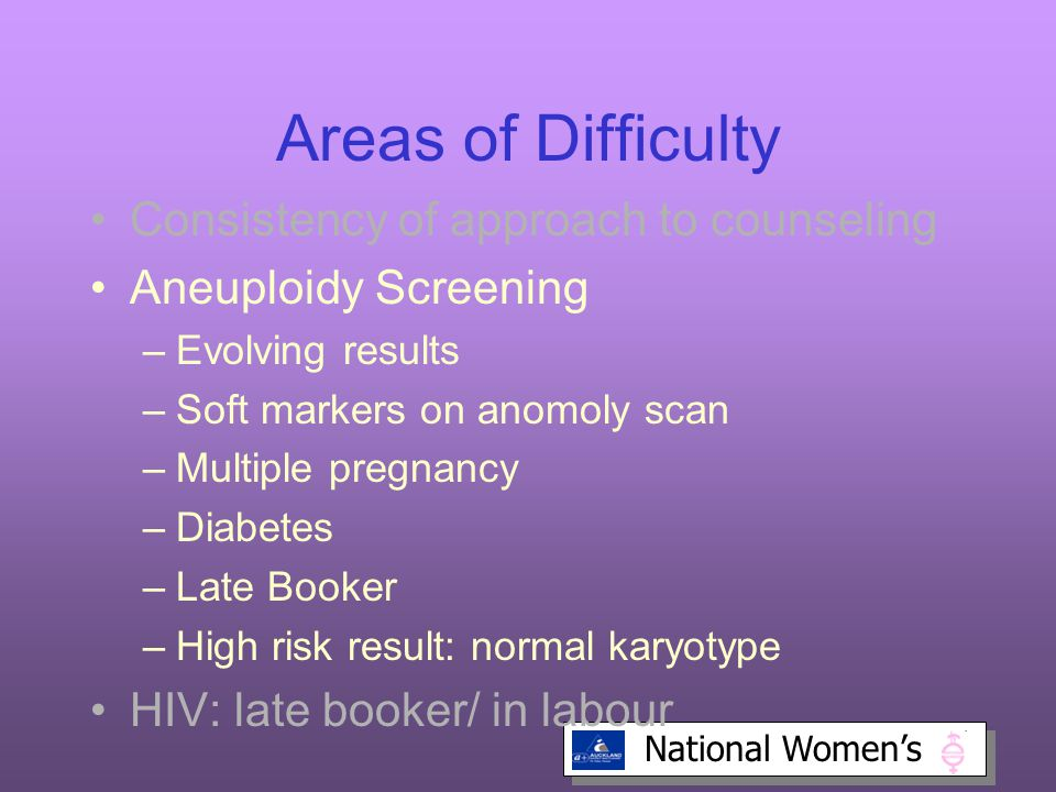 Areas of Difficulty Consistency of approach to counseling