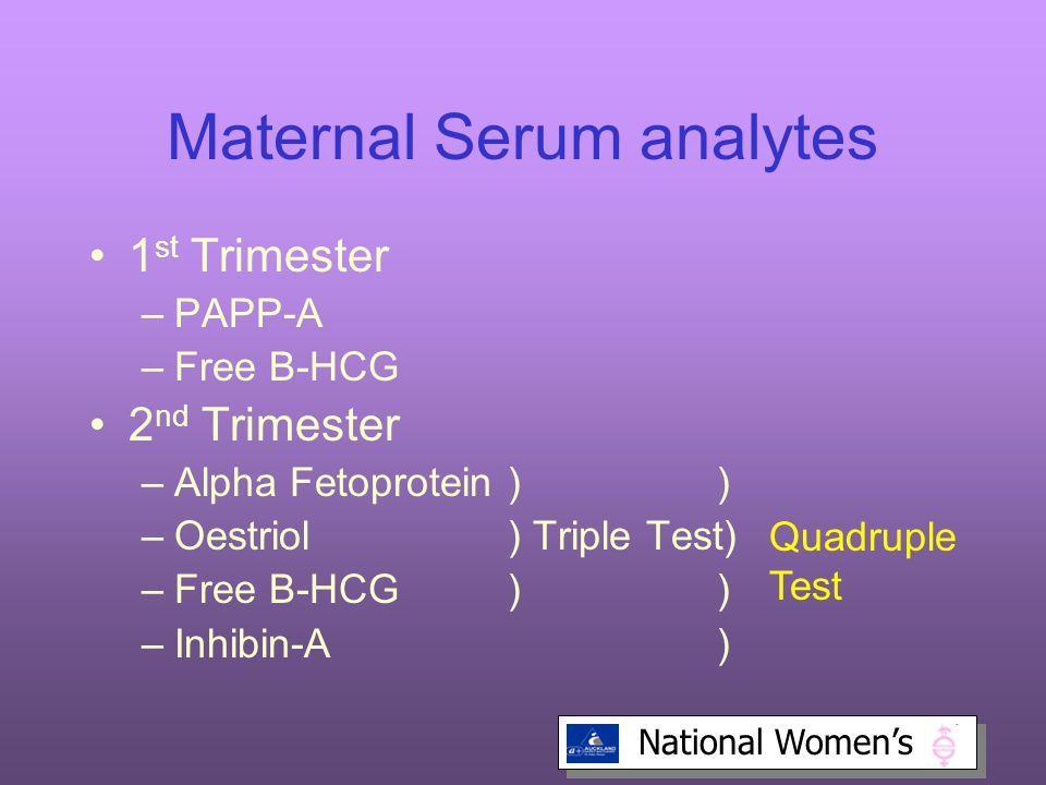Maternal Serum analytes