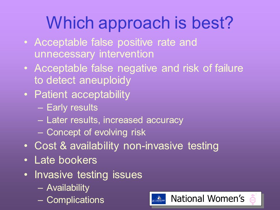 Which approach is best Acceptable false positive rate and unnecessary intervention.