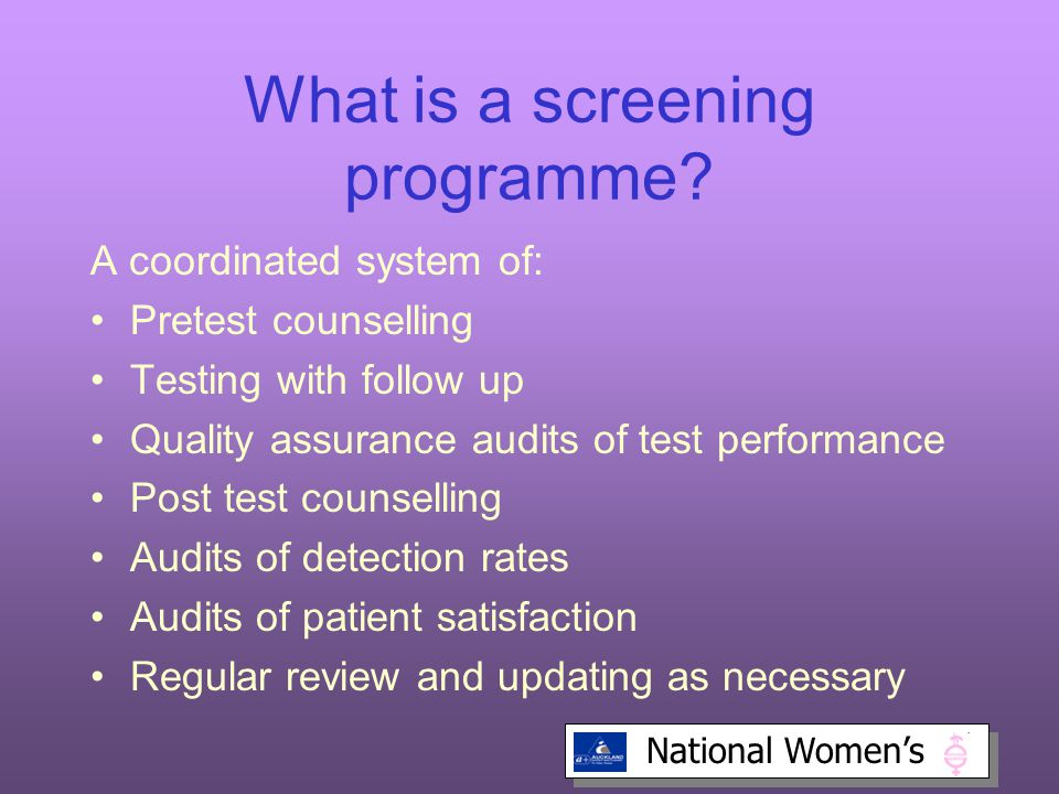 What is a screening programme