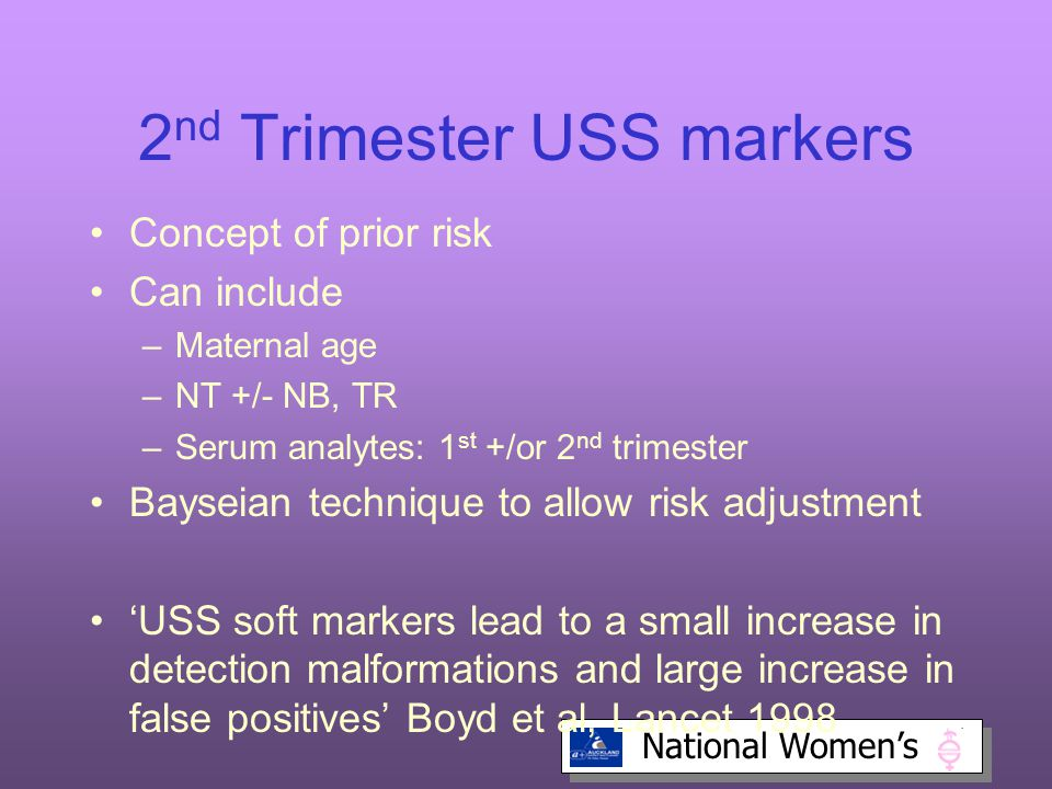 2nd Trimester USS markers