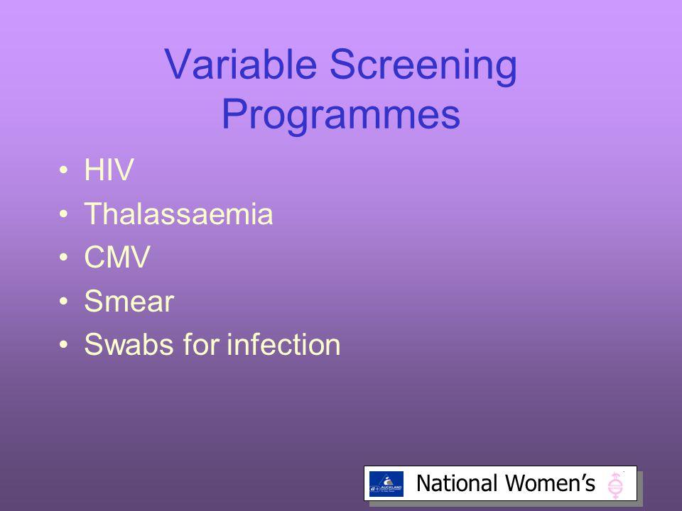 Variable Screening Programmes