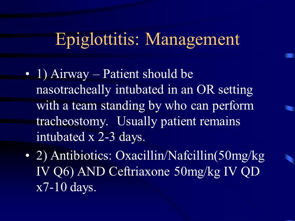 Epiglottitis: Management