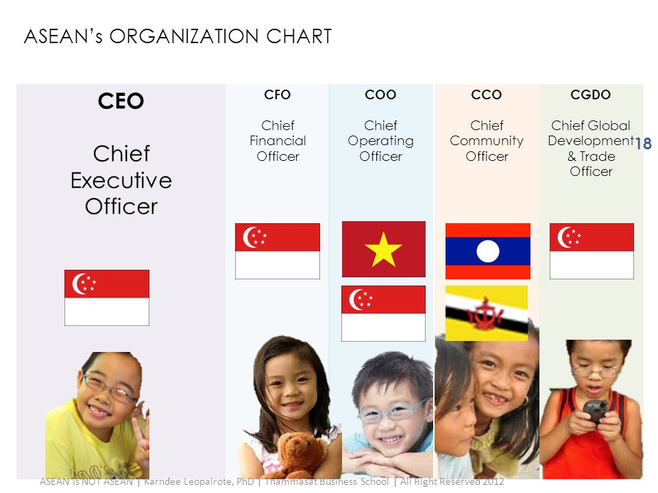CEO Chief Executive Officer ASEAN's ORGANIZATION CHART CFO