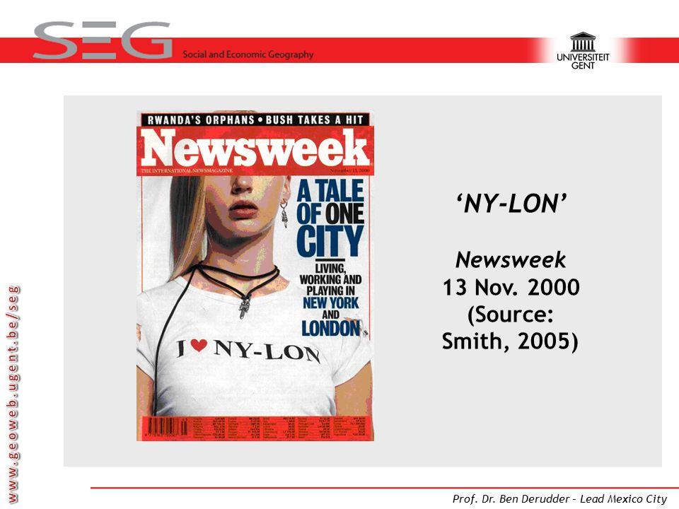 'NY-LON' Newsweek 13 Nov. 2000 (Source: Smith, 2005)