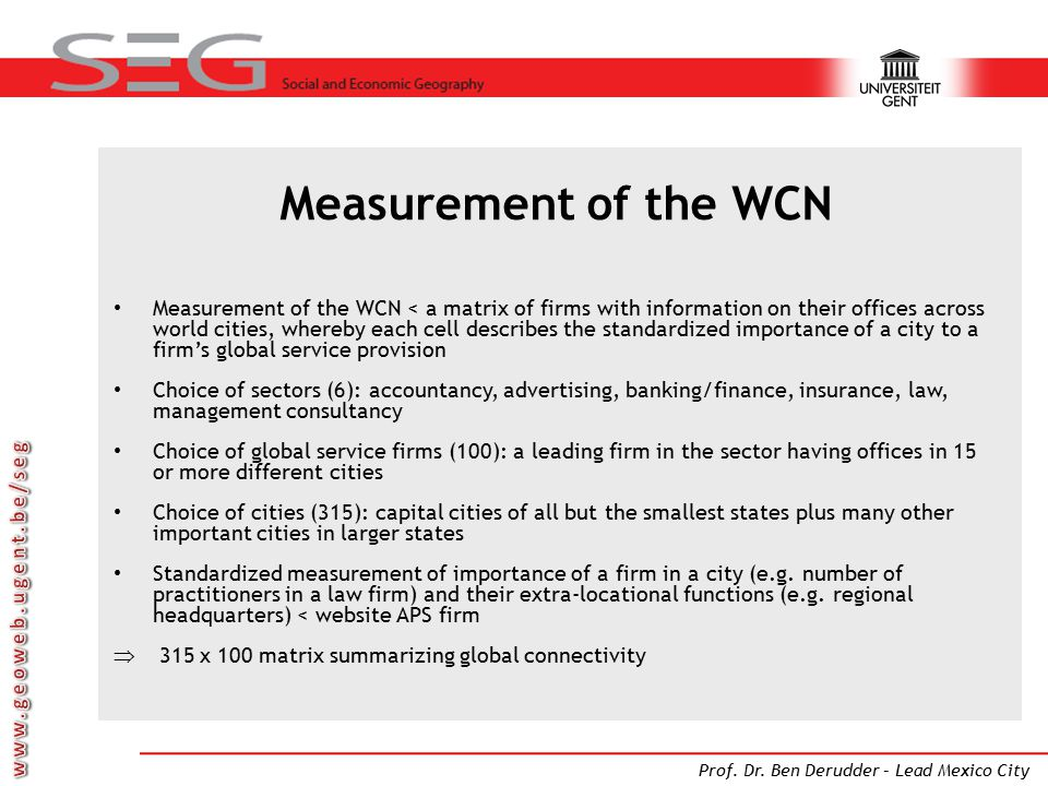 Measurement of the WCN