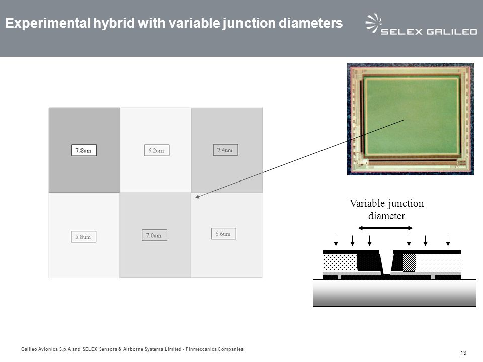 Experimental hybrid with variable junction diameters