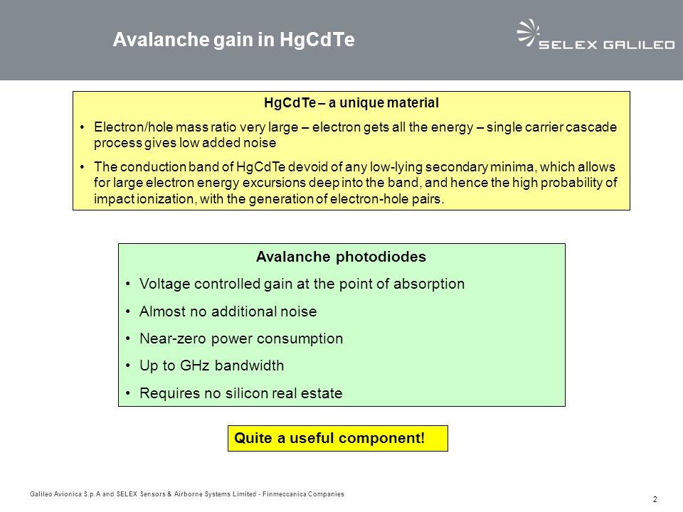 Avalanche gain in HgCdTe