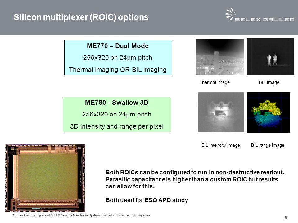 Silicon multiplexer (ROIC) options