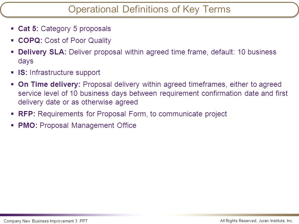 Operational Definitions of Key Terms