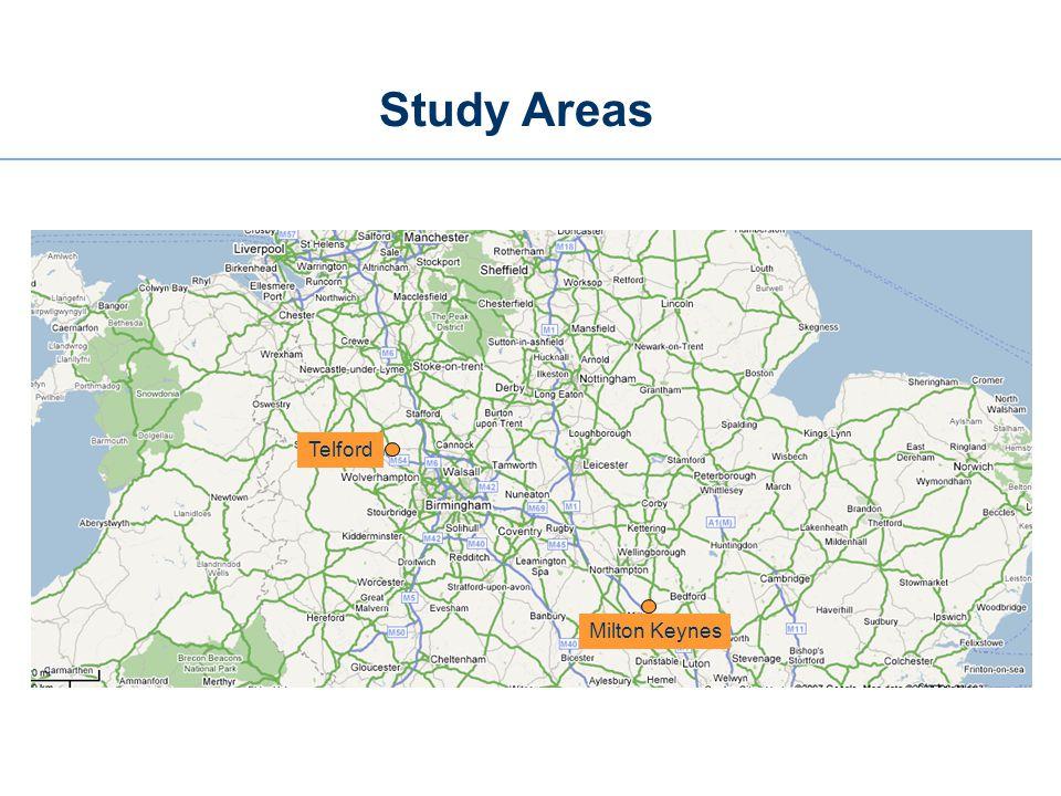 Study Areas Telford Milton Keynes