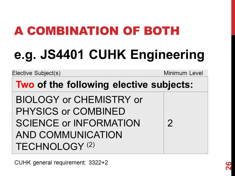e.g. JS4401 CUHK Engineering A COMBINATION OF BOTH