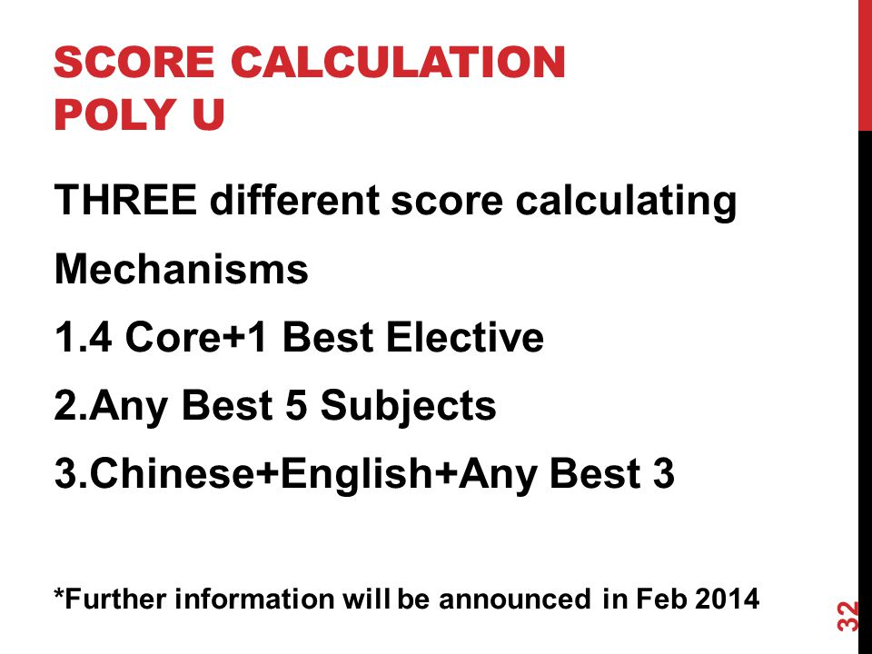 SCORE CALCULATION POLY U