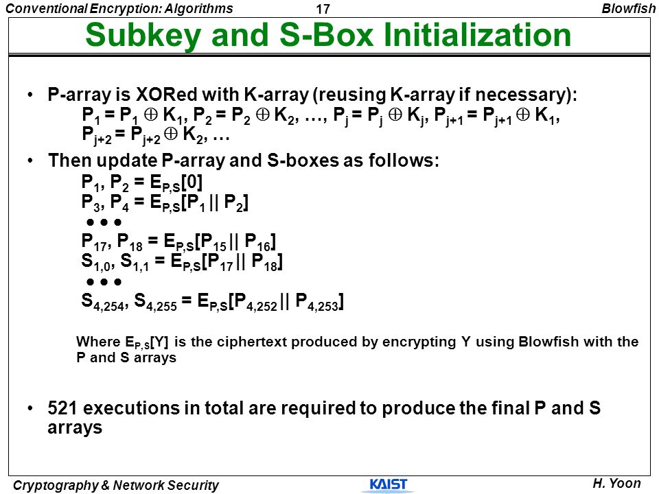Subkey and S-Box Initialization