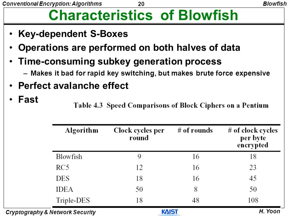 Characteristics of Blowfish