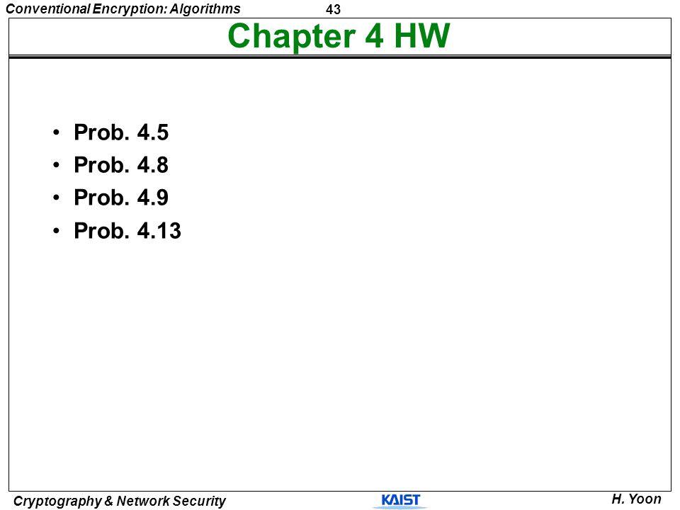Chapter 4 HW Prob. 4.5 Prob. 4.8 Prob. 4.9 Prob. 4.13