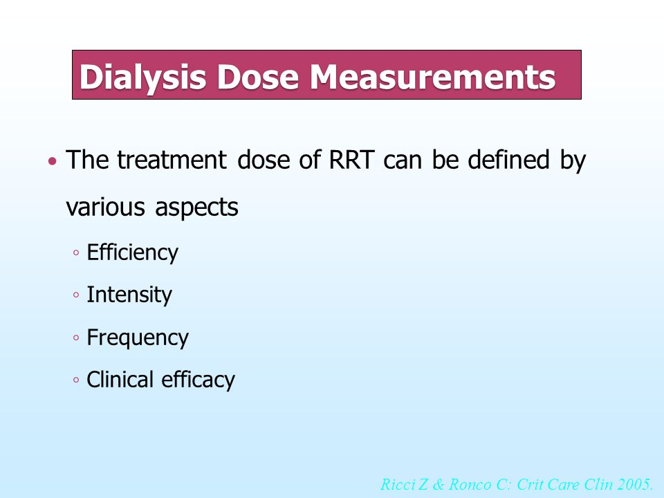 Dialysis Dose Measurements