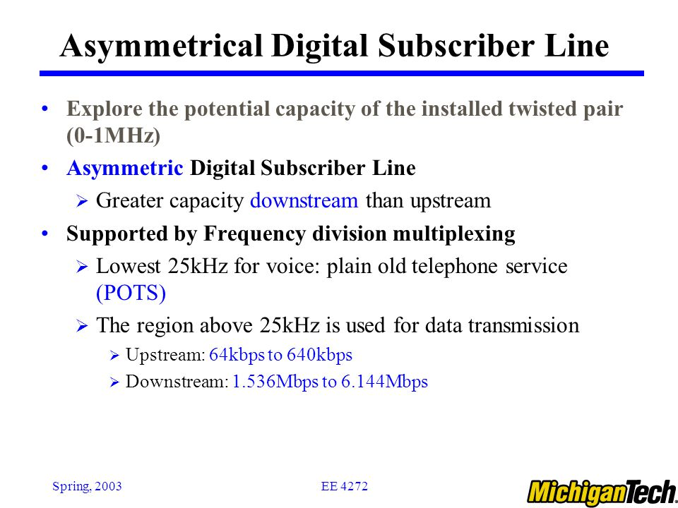 Asymmetrical Digital Subscriber Line