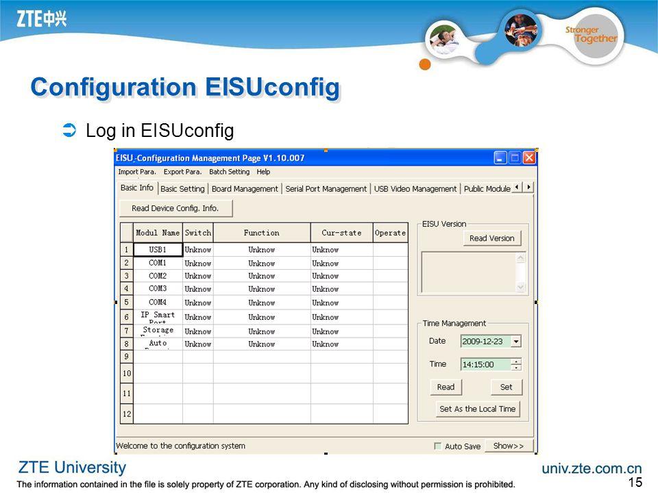 Configuration EISUconfig
