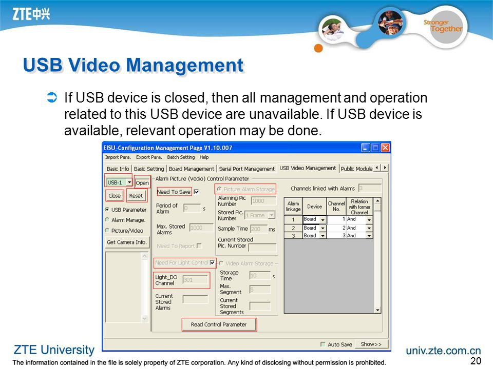 USB Video Management