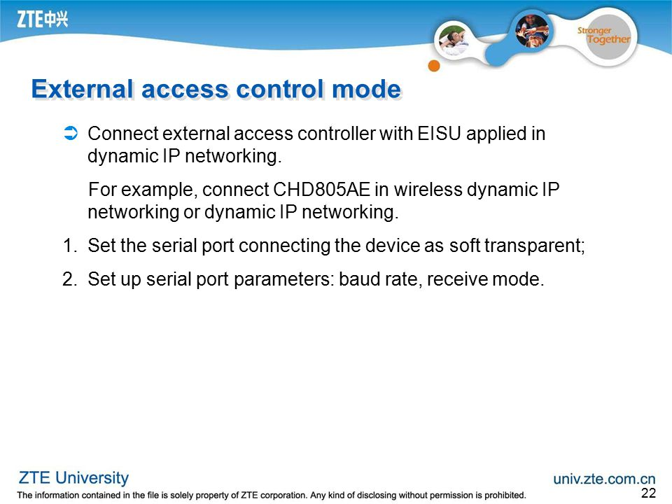 External access control mode