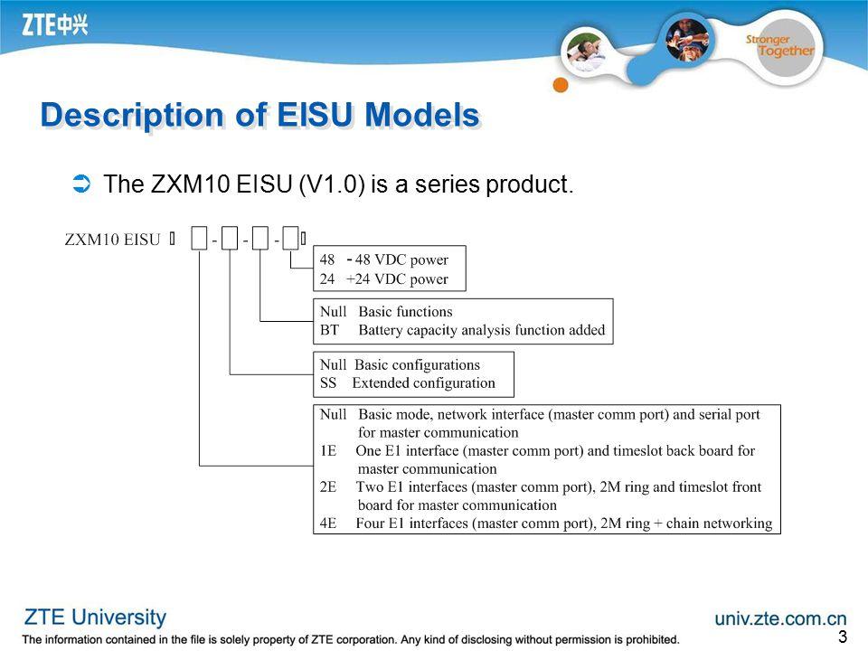 Description of EISU Models