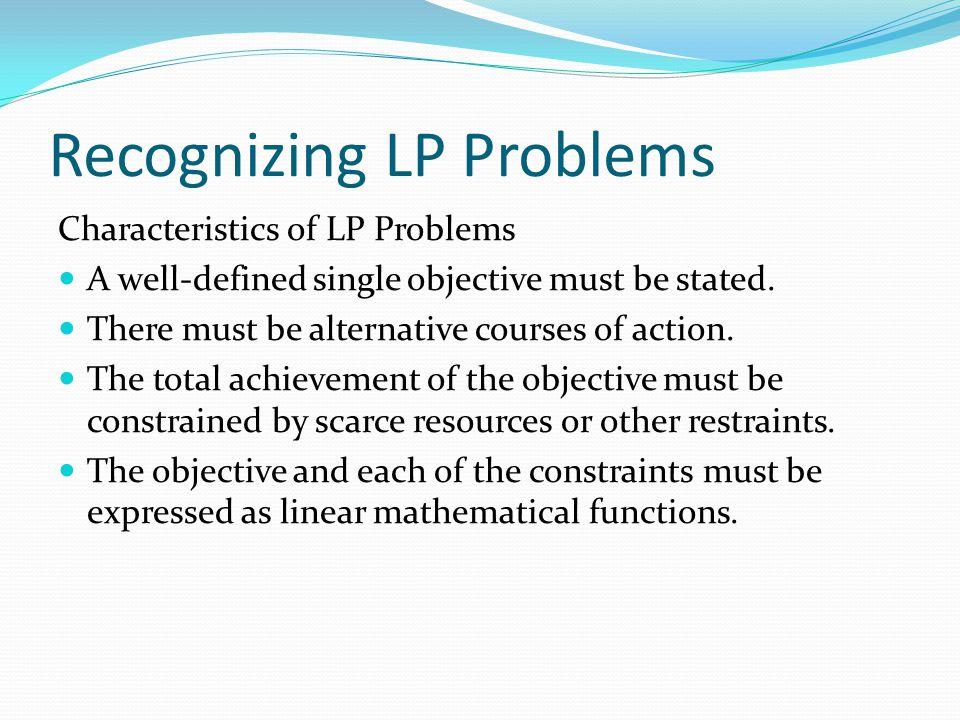 Recognizing LP Problems