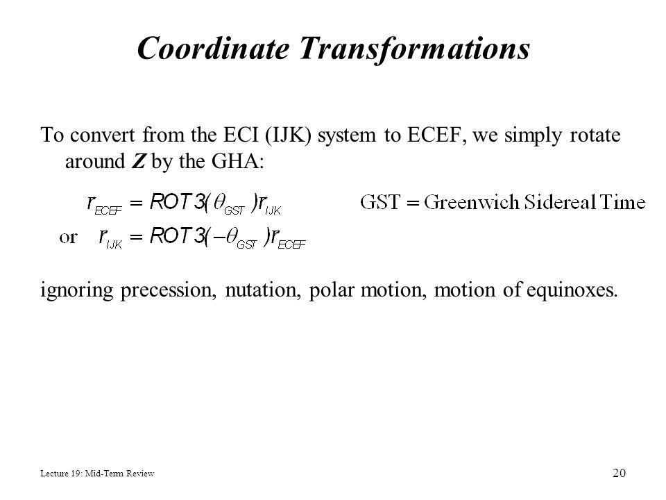 Coordinate Transformations