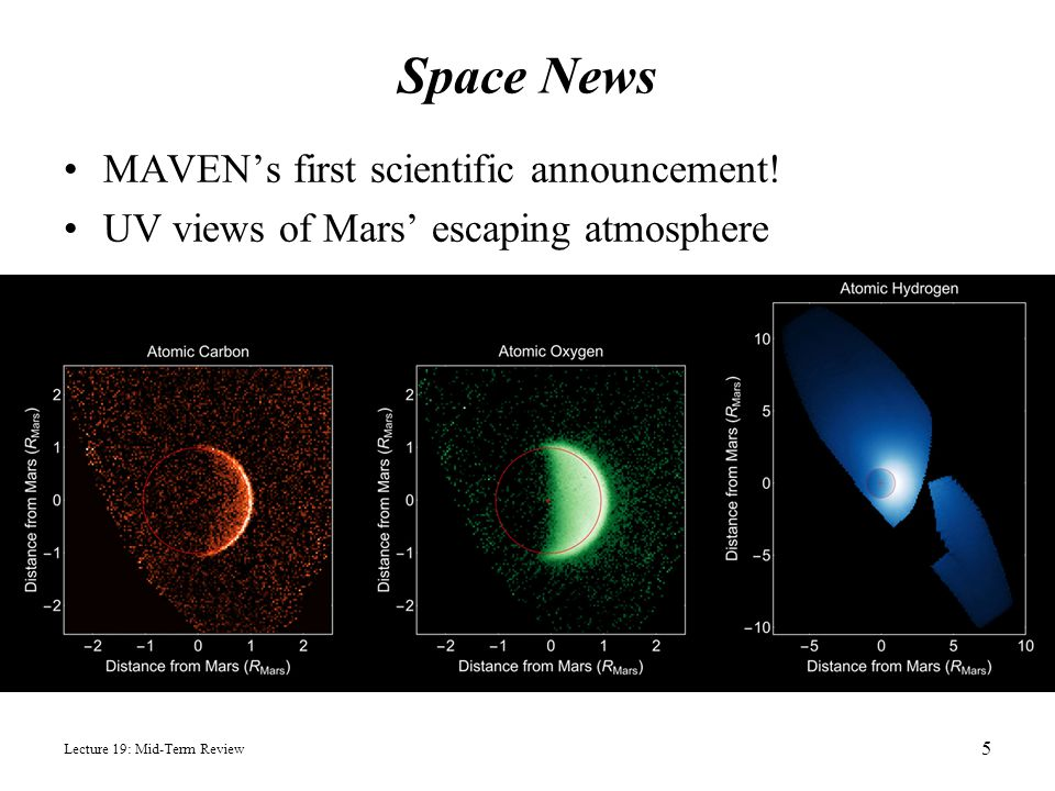 Space News MAVEN's first scientific announcement!