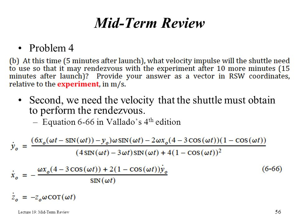 Mid-Term Review Problem 4