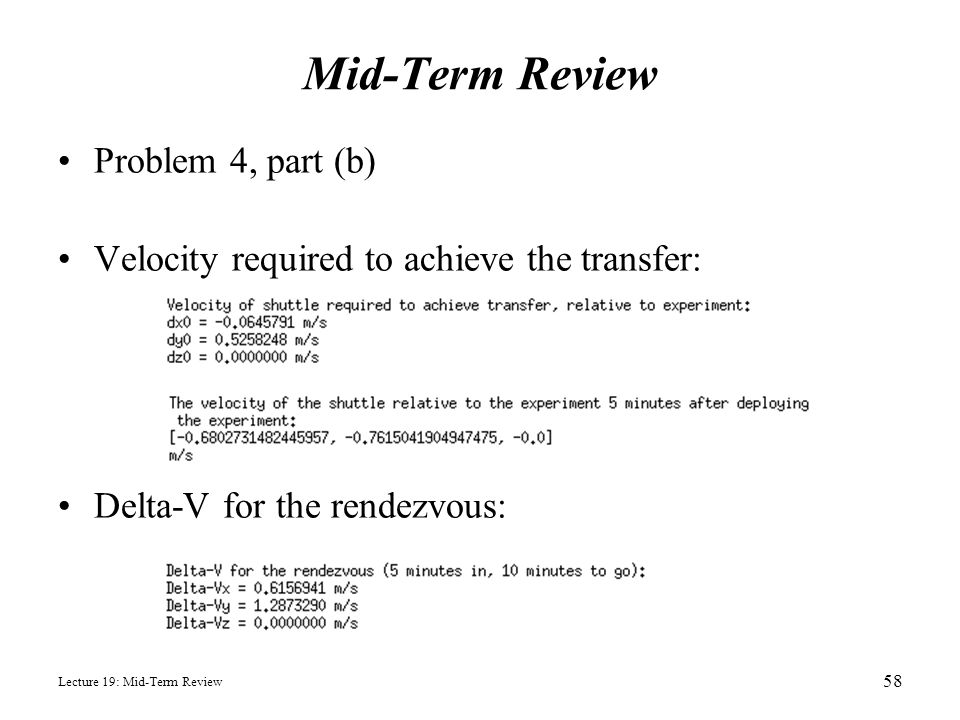 Mid-Term Review Problem 4, part (b)